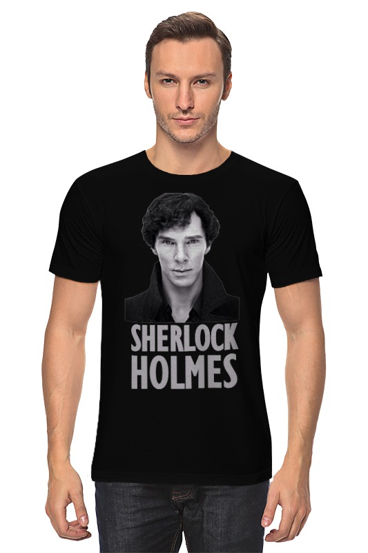 Футболка классическая Printio Sherlock holmes дойл а приключения шерлока холмса the adventures of sherlock holmes