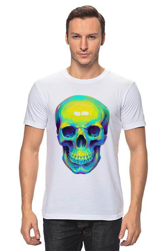Футболка классическая Printio Colorfull skull цена