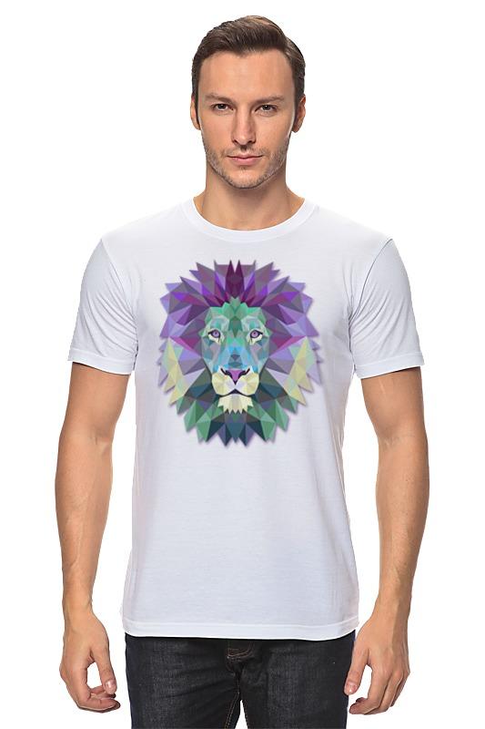 Футболка классическая Printio Геометрический лев цена