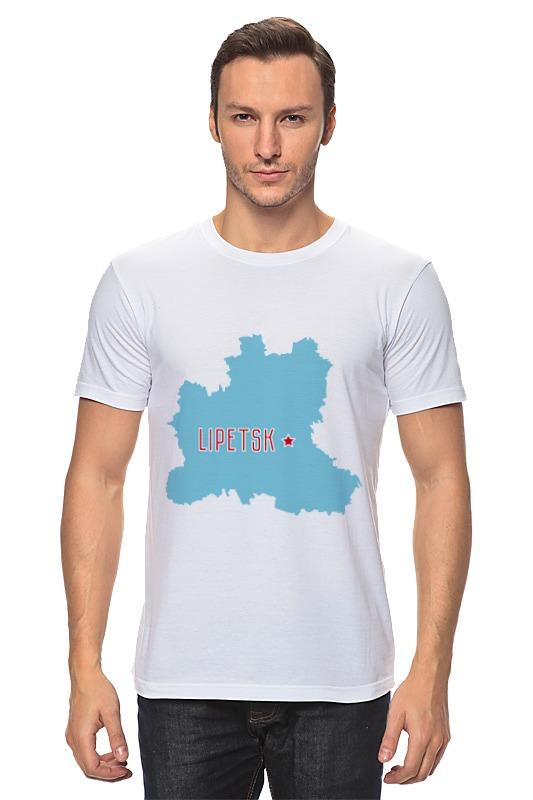 Футболка классическая Printio Липецкая область. липецк