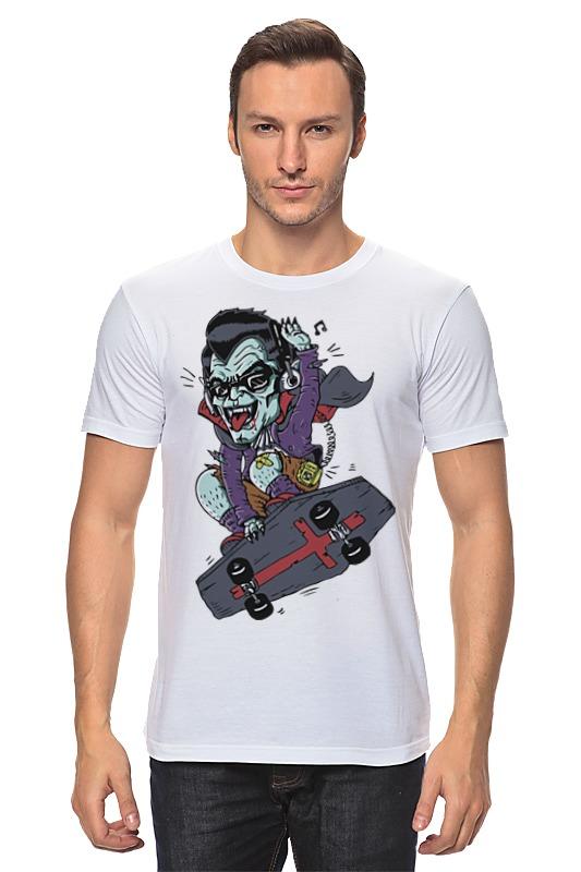 Футболка классическая Printio Дракула на скейте детская футболка классическая унисекс printio дракула на скейте