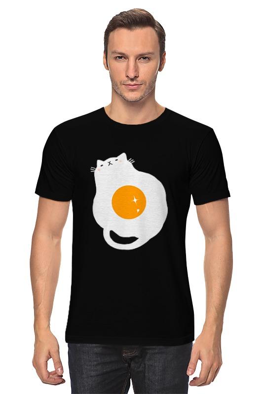 Футболка классическая Printio Кот - жареное яйцо колодки тормозные передние и задние zimmermann 2 0 для mitsubishi outlander 2015 2016 2017 2018 2019