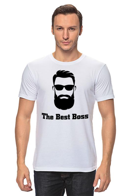 Футболка классическая Printio The best boss with beard цена