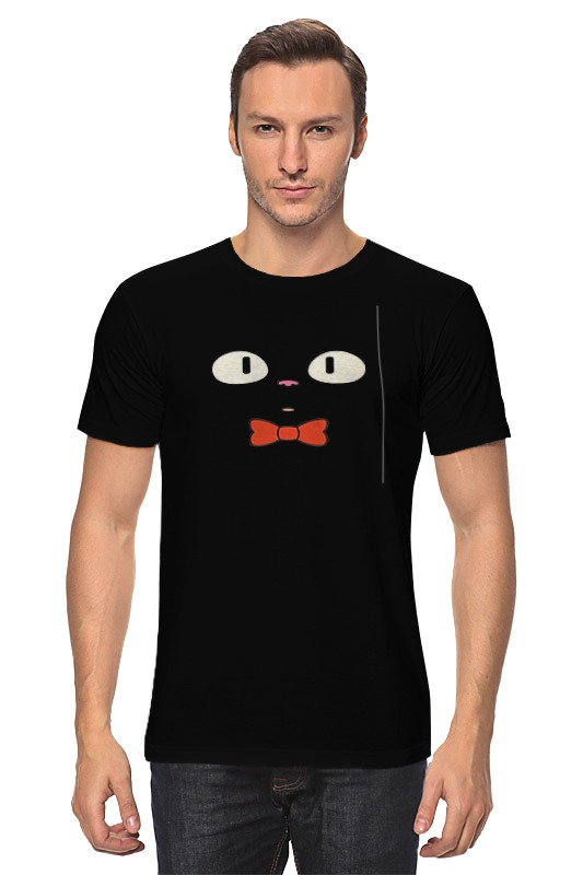 Футболка классическая Printio Чёрный кот 9tong чёрный цвет