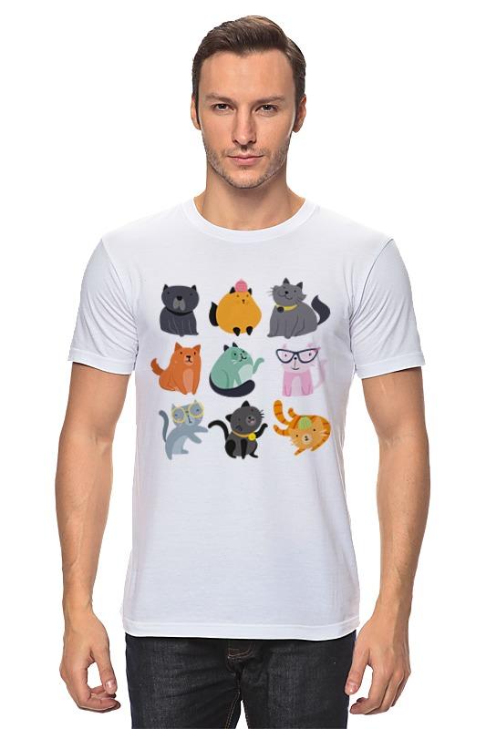 Футболка классическая Printio Цветные кошки футболка мужская senleis sls t1616 2015 1616