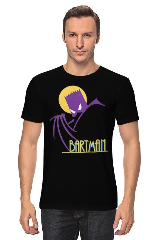 Футболка классическая Printio Барт симпсон (бэтмен) bartholomew