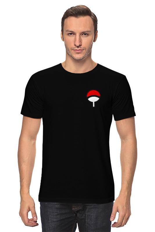 Футболка классическая Printio Rg учиха на спине и спереди - герб футболка учиха