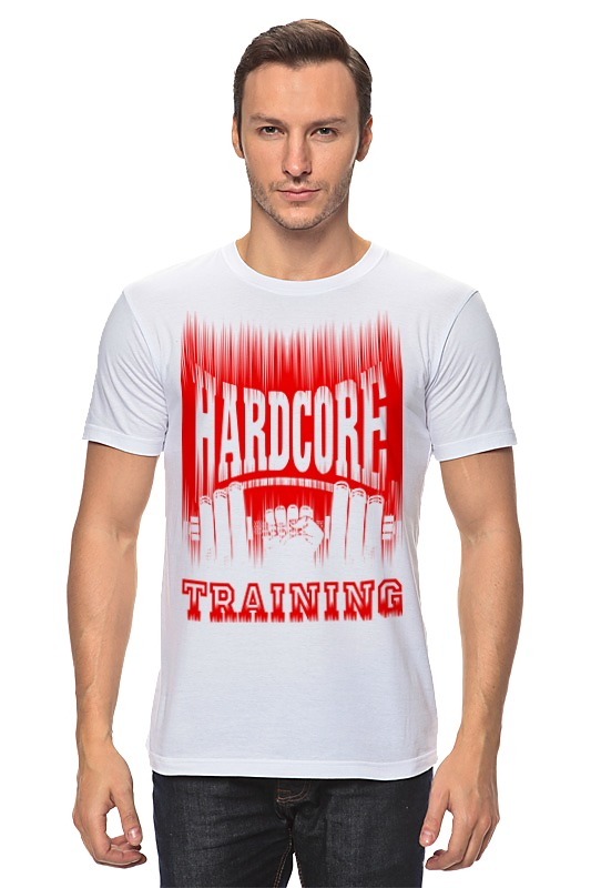 Футболка классическая Printio Hardcore training!!! футболка hardcore training hardcore training ha020emtsf29
