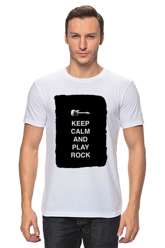 Футболка классическая Printio Keep calm and play rock сумка printio keep calm and play rock