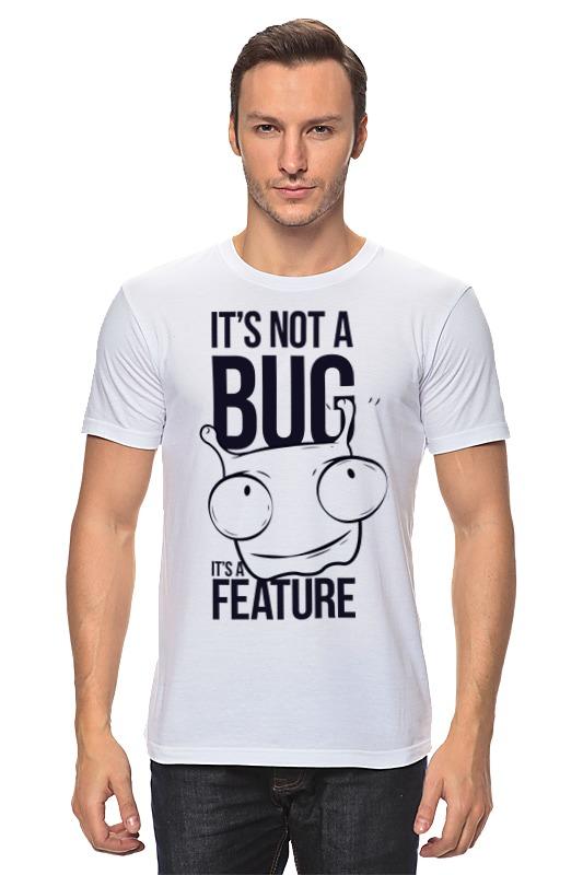 Футболка классическая Printio It's not a bug like bug juice on a burger