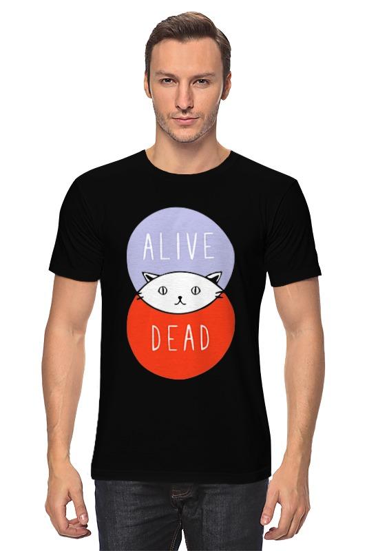 Футболка классическая Printio Кот шрёдингера (живой, мертвый) детская футболка классическая унисекс printio кот шрёдингера