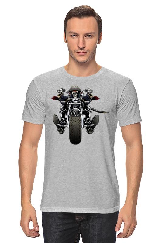 Футболка классическая Printio Скелетон на мотоцикле