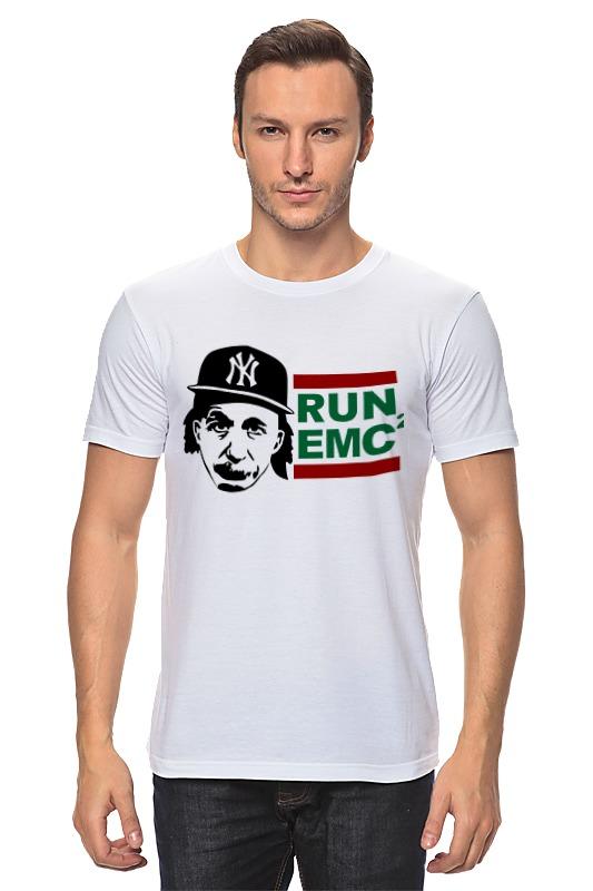 купить Футболка классическая Printio Run emc по цене 870 рублей