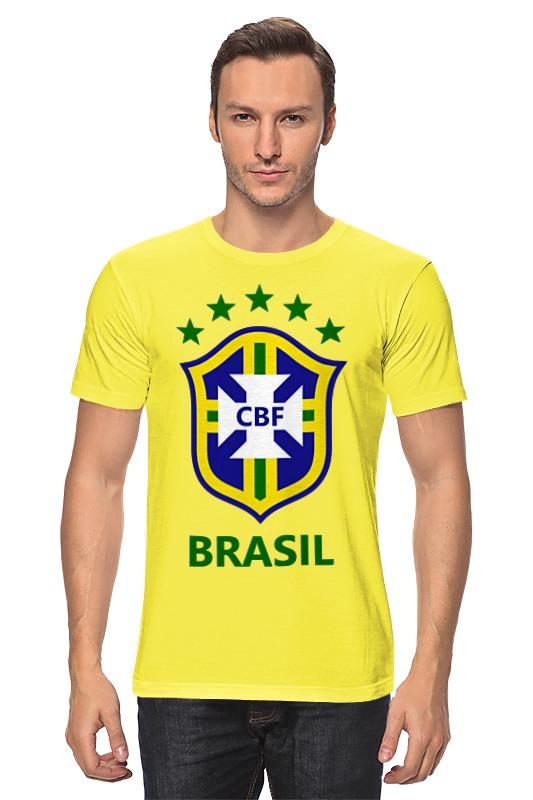 Футболка классическая Printio Сборная бразилии aideli жёлтый цвет 45 ярдов