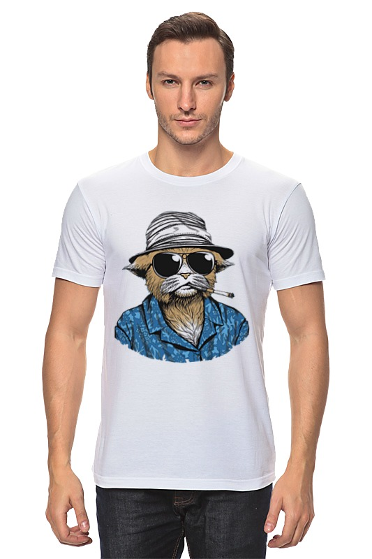 Футболка классическая Printio Hunter s. thompson cat cat s cradle