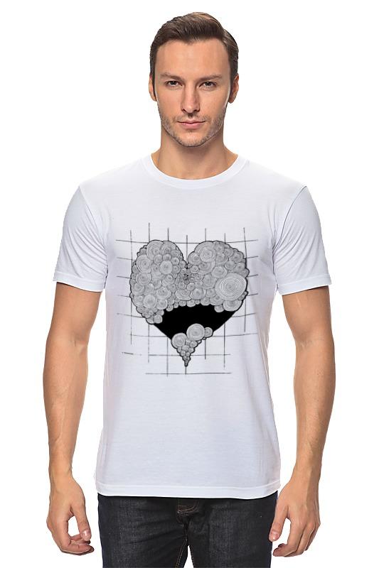 Футболка классическая Printio Сердце загогулистое черно-белое футболка классическая printio черно белый шут