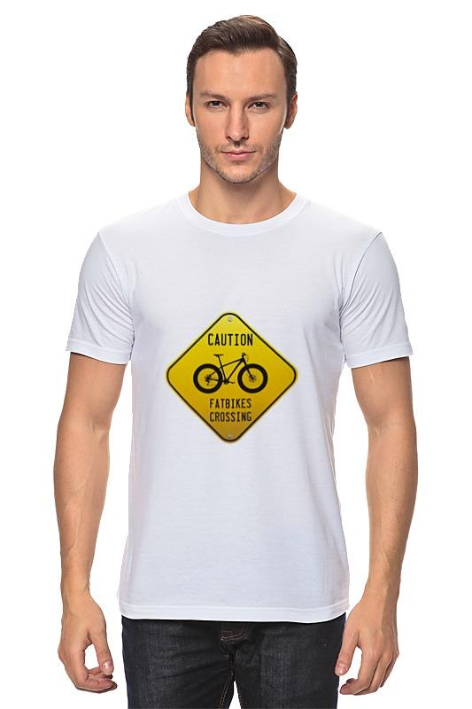 Футболка классическая Printio Caution fatbikes lust caution 3001