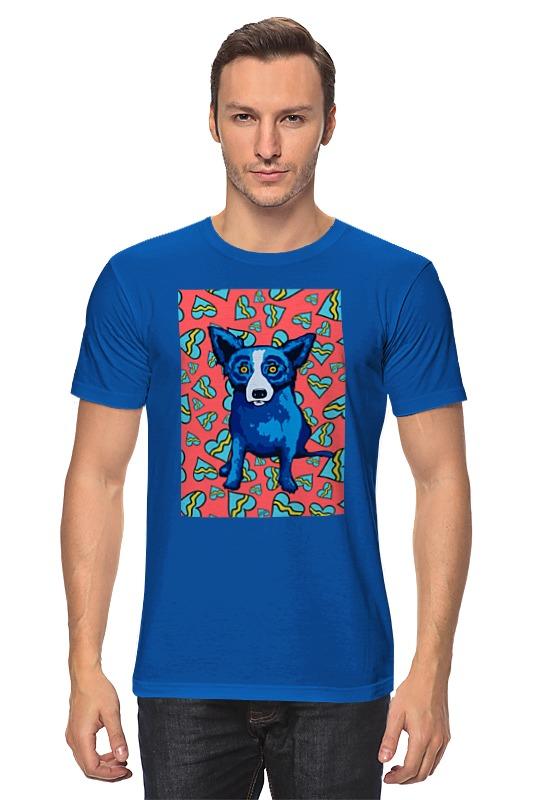 Футболка классическая Printio Синий пес синий цвет