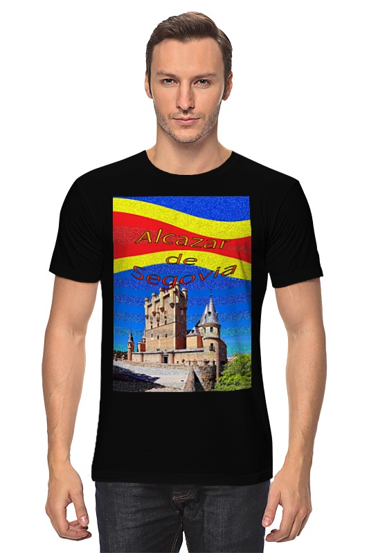 Футболка классическая Printio Замки испании. замок сеговия. deroace велосипедный цепной стальной замок для электрокара электро мотороллера мотора