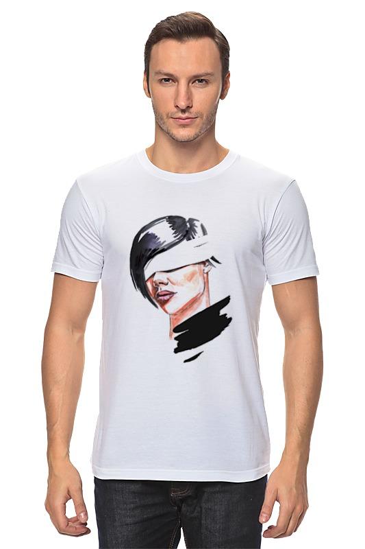 Футболка классическая Printio Девушка с завязанными глазами футболка классическая printio девушка с завязанными глазами