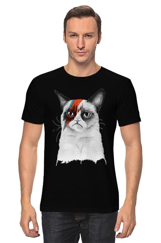 Футболка классическая Printio Grumpy cat x david bowie сумка printio grumpy cat x bowie