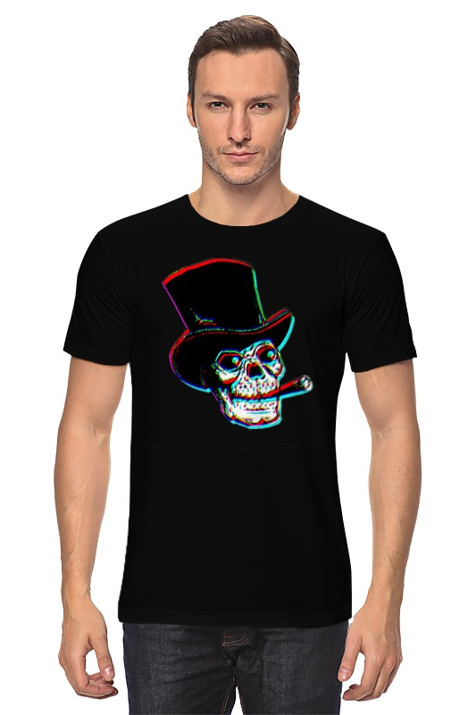 Футболка классическая Printio Череп в шляпе с сигарой футболка классическая printio девушка в шляпе