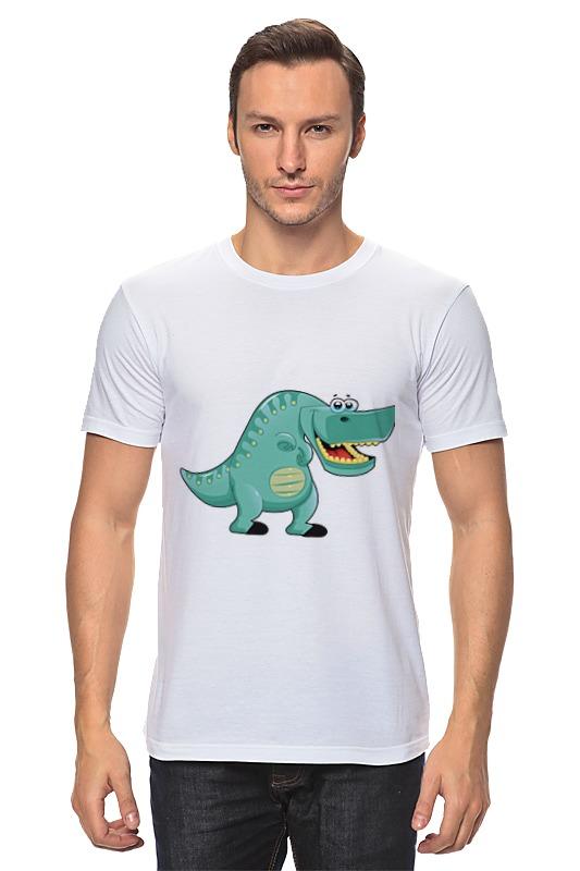 Футболка классическая Printio Забавный динозавр майка классическая printio забавный динозавр