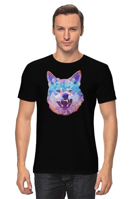 Футболка классическая Printio Абстрактный волк футболка классическая printio тамбовский волк тебе товарищ