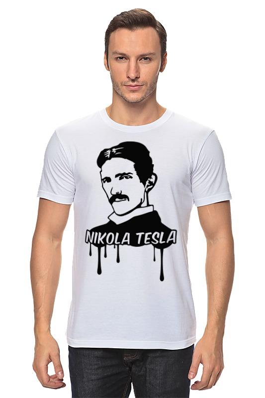 Футболка классическая Printio Никола тесла свитшот мужской с полной запечаткой printio никола тесла изобретатель гений