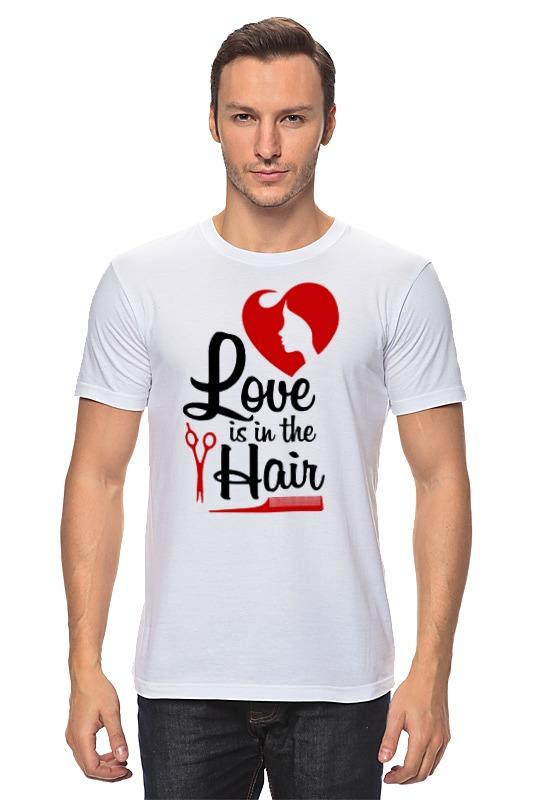 Футболка классическая Printio Любовь. прически. футболка классическая printio футболка любовь
