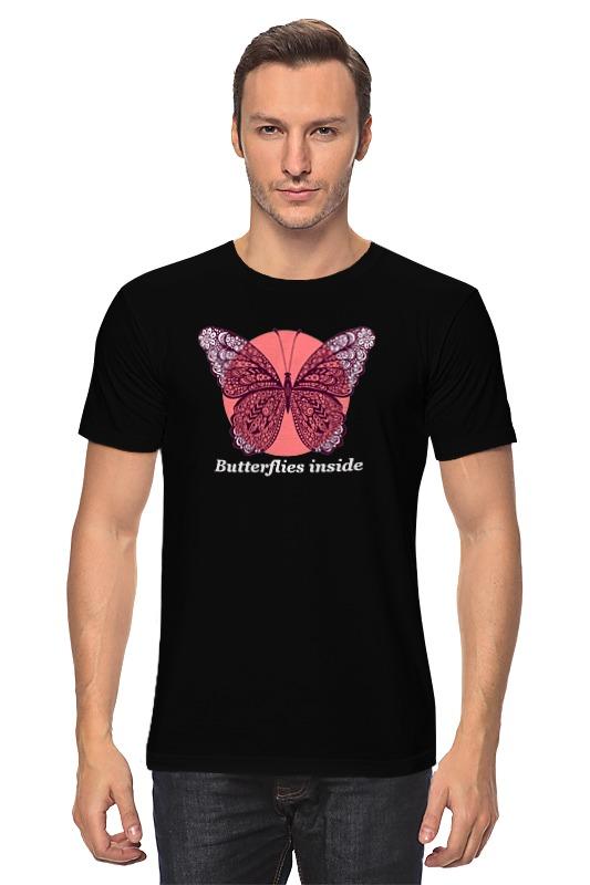 Футболка классическая Printio Бабочки внутри футболка классическая printio я покажу тебе мир