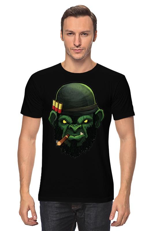 Футболка классическая Printio War monkey/обезьяна футболка с полной запечаткой мужская printio war monkey обезьяна