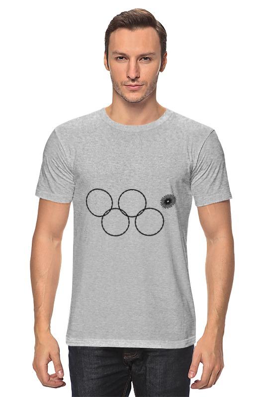 Футболка классическая Printio Олимпийские кольца в сочи 2014 кольца