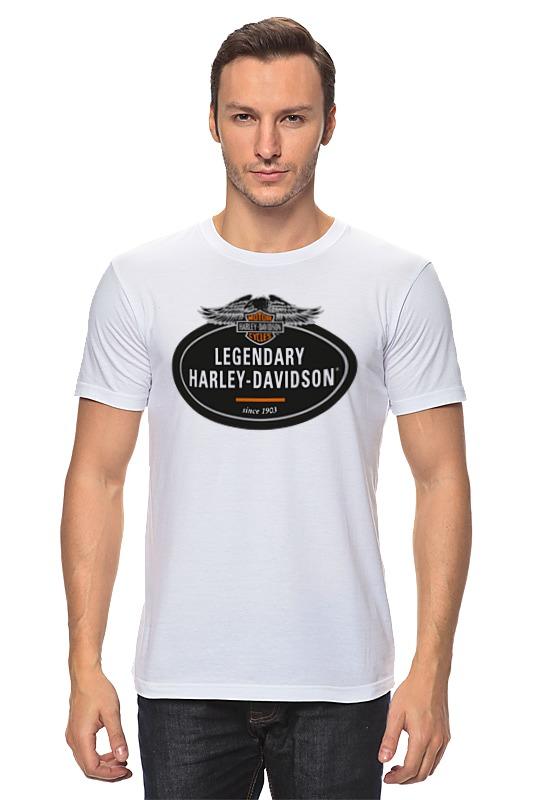 Футболка классическая Printio Harley-davidson 292mm rear brake disc rotor for harley davidson xl883 xlh883 xl1200 xlh1200 1450 super glide dyna flstf 1584 fxds