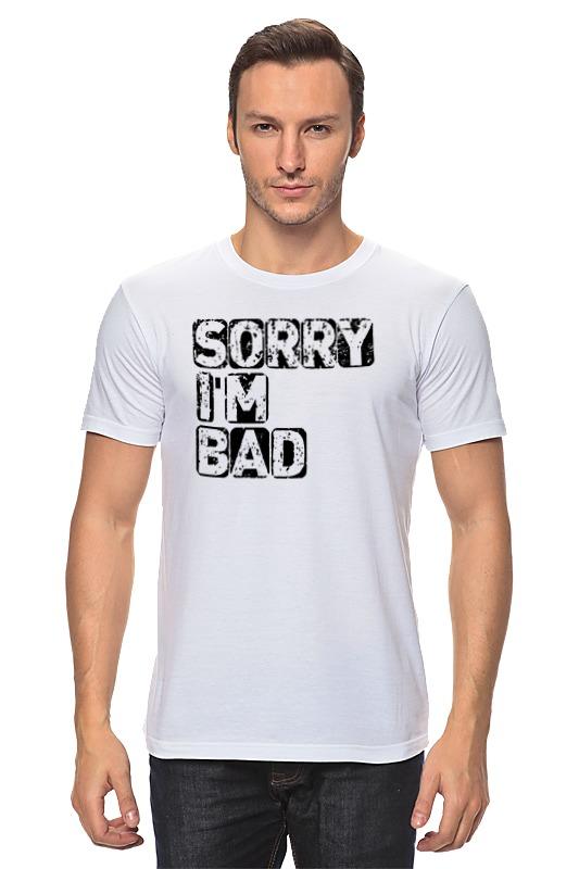 Футболка классическая Printio Простите, я плохой футболка классическая printio я покажу тебе мир