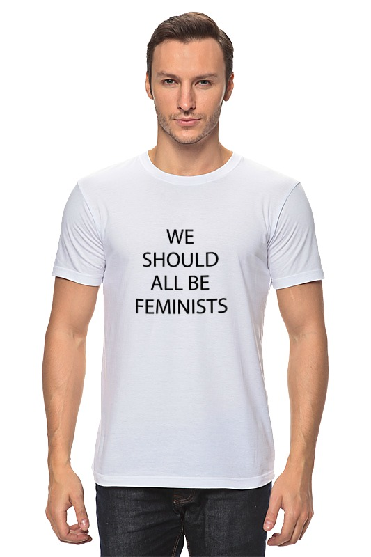 Футболка классическая Printio We should all be feminists nao for all we know neon yellow