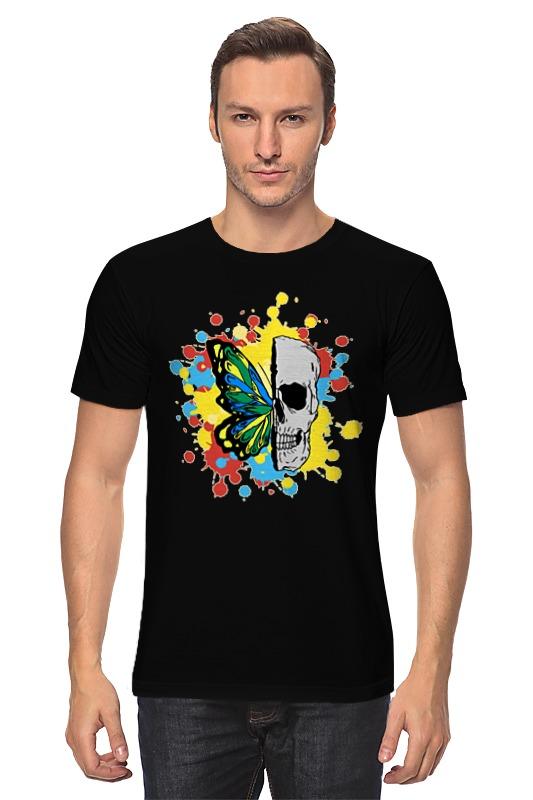 Футболка классическая Printio Череп и бабочка футболка классическая printio череп и бабочка