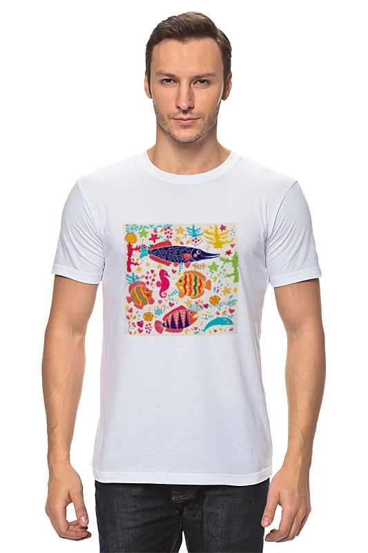 Футболка классическая Printio Обитатели моря 2 футболка классическая printio 62 2% в саратове