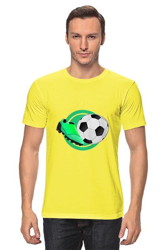 Футболка классическая Printio Футбольный мяч футбольный мяч locomotive pu zuqiu