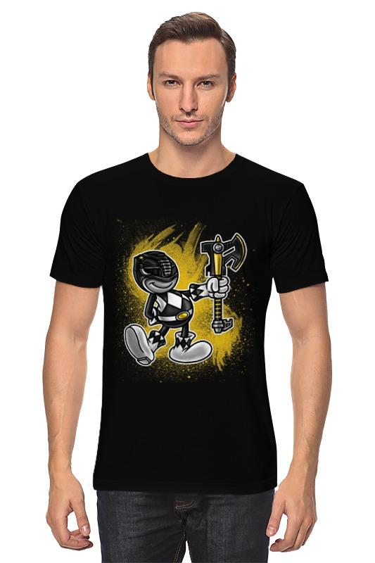 Футболка классическая Printio Чёрный рейнджер 9tong чёрный цвет