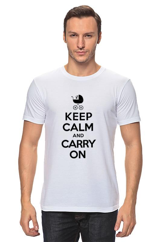 Футболка классическая Printio Keep calm & carry on keep calm and carry on distressed motorola droid 2 skinit skin