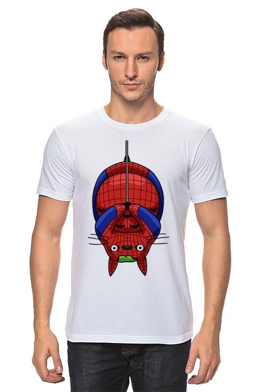 Футболка классическая Printio Кот (человек паук)
