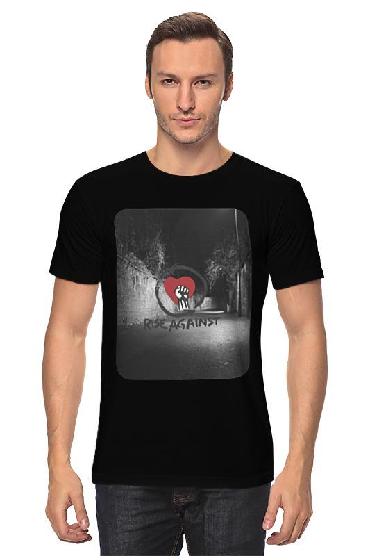 Футболка классическая Printio Rise against - logo куртка для мальчиков luhta 434061472lv цвет красный р 134 100%полиэстер 670