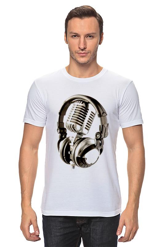 Футболка классическая Printio Микрофон & наушники сумка printio микрофон