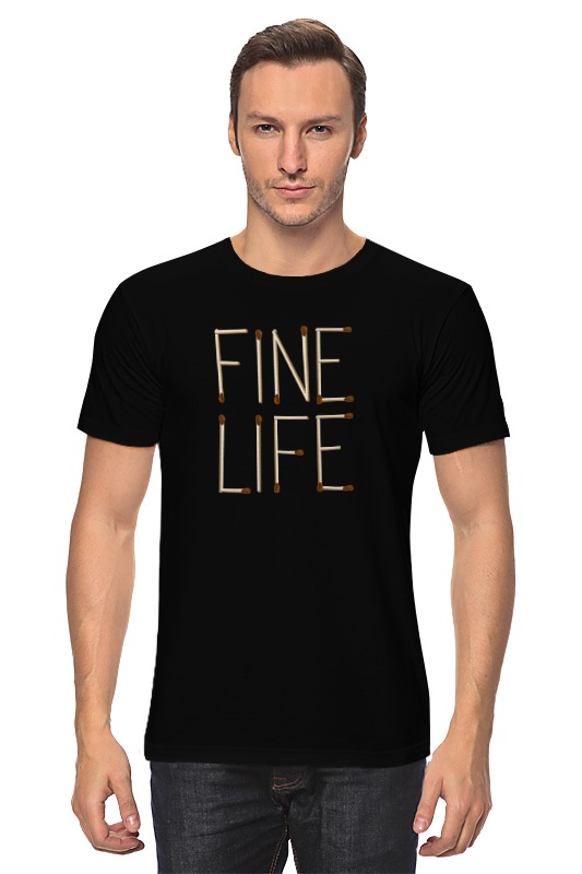 Футболка классическая Printio Fine life тан fine life с огурцом и зеленью 0 5%