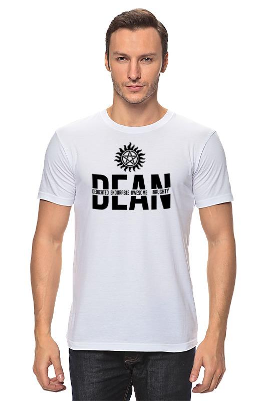 Футболка классическая Printio Дин винчестер (supernatural) футболка wearcraft premium slim fit printio винчестер supernatural