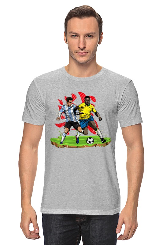 Футболка классическая Printio Футболисты игра футболисты и красавицы барбоскины