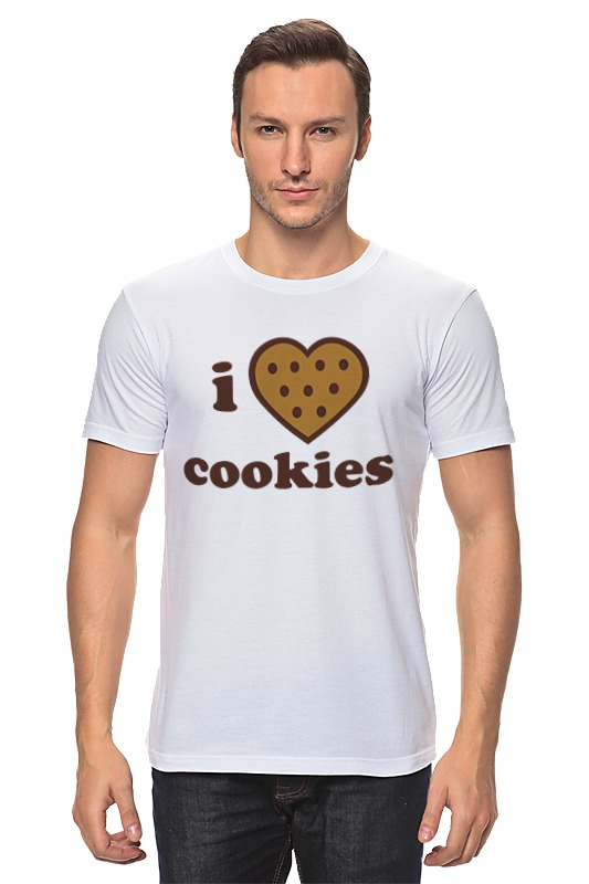 Футболка классическая Printio i love cookies cook cooker chef made cookies mold u образные антипригарные печенья cookies cookies short form 20 1 5 8 4 1cm champagne gold wk9069