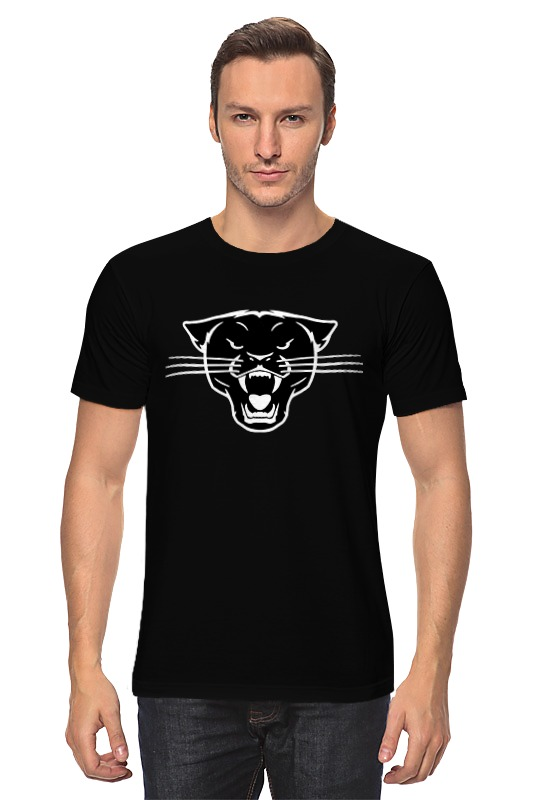 Футболка классическая Printio Черная пантера (black panther) майка классическая printio черная пантера black panther