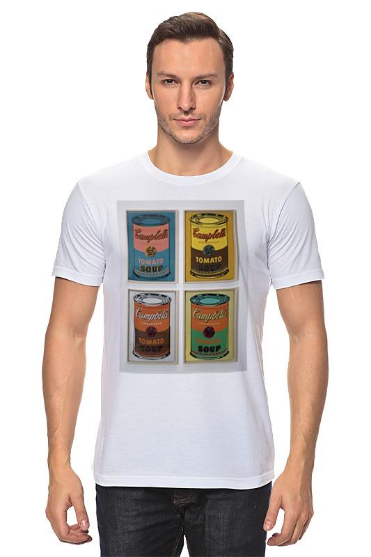 Футболка классическая Printio Банки с супом кэмпбелл (campbell's soup cans) сумка printio банки с супом кэмпбелл campbell's soup cans